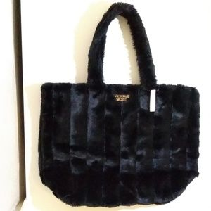 Victoria's Secret Faux Fur Tote Bag New With Tag